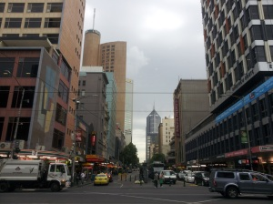 A view of the Central Business District from the Central Train Station