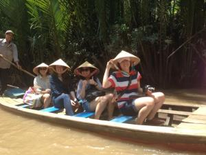 MIM students on the Mekong Delta, Vietnam