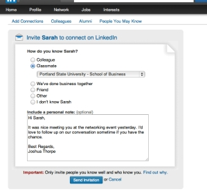 LinkedIn Connect Screenshot