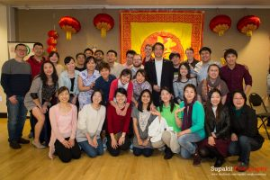 MIM Students and instructors at the MIM Chinese New Year Party