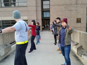 MIM Students Practicing Tai Chi